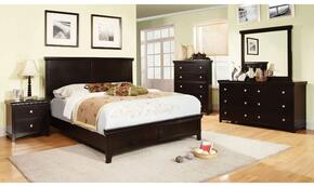 Spruce Collection CM7113EXKBDMCN 5-Piece Bedroom Set with King Bed, Dresser, Mirror, Chest, and Nightstand in Espresso Finish