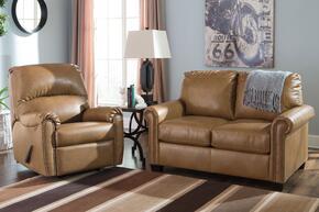 Lottie DuraBlend 380022537SET 2-Piece Living Room Set with Rocker Recliner and Twin Sofa Sleeper in Almond