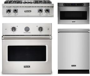 "4-Piece Stainless Steel Kitchen Package with VRT5304BSS 30"" Gas Cooktop, VESO5302SS 30"" Electric Single Wall Oven, VMOD5240SS 24"" Undercounter DrawerMicro, and FDW302WS 24"" Fully Integrated Dishwasher"