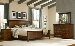 Westlake WSLCB5035 5-Piece Bedroom Set with Queen Panel Bed, Dresser, Mirror and 2 Nightstands in Cherry Brown Finish