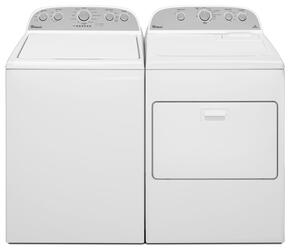 "Cabrio White Top Load Laundry Pair with WTW5000DW 27.5"" Washer and WED5000DW 29"" Electric Dryer"