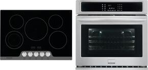 "Gallery 2-Piece Stainless Steel Kitchen Package with FGEW3065PF 30"" Single Electric Wall Oven and FGEC3067MS 30"" Electric Cooktop"