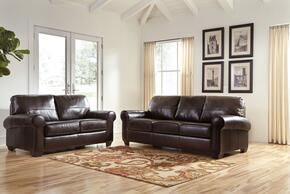 Urijah Collection MI-7590SL-CHES 2-Piece Living Room Set with Sofa and Loveseat in Chestnut