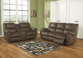 Quarterback 32701SL 2-Piece Living Room Set with Sofa and Loveseat in Canyon