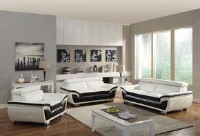 Olina Collection 50145SLCT 6 PC Living Room Set with Sofa + Loveseat + Chair + 3 PK Table Set in White and Coffee Color