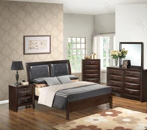 G1525AQBDMN 4 Piece Set including  Queen Size Bed, Dresser, Mirror and Nightstand in Cappuccino