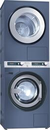 Commercial Octoblue Stacked Laundry Pair with PWT6089 Washer and PT7189208V Dryer with 208 Voltage