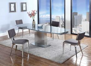 Mavis Collection MAVIS-5PC Dining Room Set with Dining Table + 4 Side Chairs in Grey