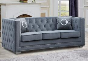 Cosmos Furniture ZIONSOFAGREYVELVET