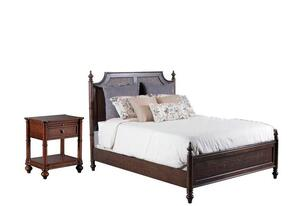 Passages Collection 14BO7024PW2PCQPS1DNKIT1 2-Piece Bedroom Sets with Queen Poster Bed, and Nightstand in Akzo Nobel