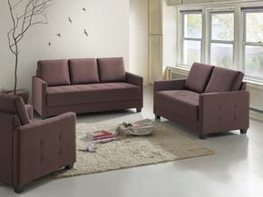 G776SET 3 PC Living Room Set with Sofa + Loveseat + Armchair in Brown Color