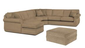 Veronica 617LCHSS4PCO/8175-83 2-Piece Living Room Set with 4PC Left Chaise Sectional and Storage Ottoman in 8175-83 Beige