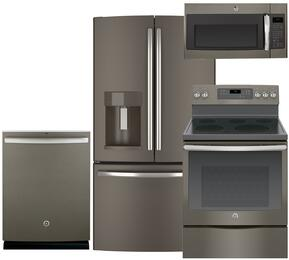 4-Piece Slate Kitchen Package with GFE28HMHES 36