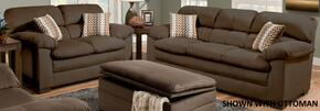 Lakewood 3685-0302 2 Piece Set including Sofa and Loveseat with Fabric Upholstery in Cappuccino