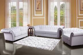 Camden 50165SLC 3 PC Living Room Set with Sofa + Loveseat + Chair in White Color