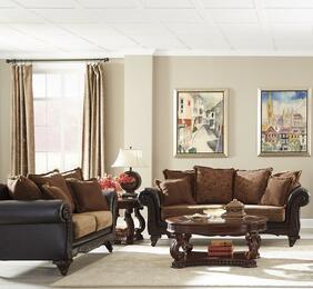 Garroway 5052312PC 2 PC Living Room Set with Sofa + Loveseat in Dark Chocolate Finish