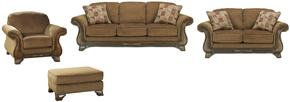 Matilda Collection MI-9918SLCO-MOCH 4-Piece Living Room Set with Sofa, Loveseat, Living Room Chair and Ottoman in Mocha