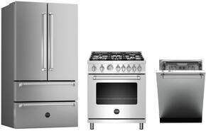 "4-Piece Kitchen Package with REF36X 36"" French Door Refrigerator, MAS365DFMXE 36"" Dual Fuel Freestanding Range, DW24XV"