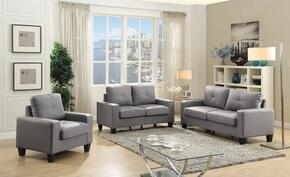 Newbury Collection G461ASET 3 PC Living Room Set with Sofa + Loveseat + Armchair in Grey Color