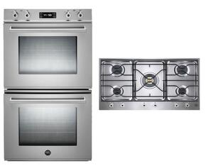 "Professional 2-Piece Stainless Steel Kitchen Package with FD30PROXE 30"" Double Electric Wall Oven and PM36500X 36"" Gas Cooktop"