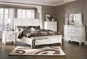 Hanson Collection Collection Queen Bedroom Set with Storage Bed, Dresser, Mirror and Nightstand in White