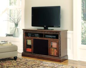 Mallory Collection EN-141-70A30 2-Piece Set with TV Stand and Large Integrated Audio Unit in Dark Brown