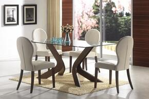 120361SET5 San Vicente 5 PC Dining Set (Table, 4 Chairs) by Coaster Co.