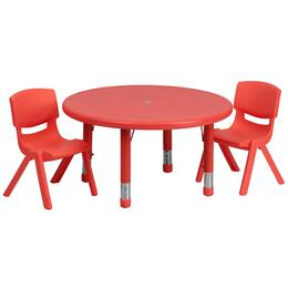 Flash Furniture YUYCX00732ROUNDTBLREDRGG