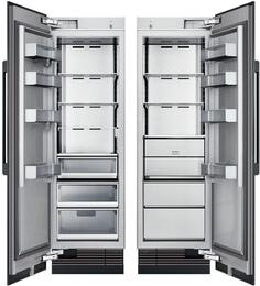 "48"" Panel Ready Side-by-Side Column Refrigerator Set with DRR24980LAP 24"" Left Hinge Refrigerator and DRZ24980RAP 24"" Right Hinge Freezer"