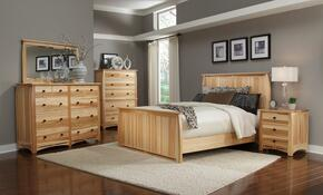 ADANT5070Q5P Adamstown 5 Piece Bedroom Set with Queen Sized Panel Bed, Chest, Dresser, Mirrror, and Nightstand
