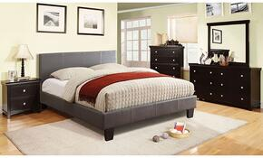 Winn Park Collection CM7008GYKBDMCN 5-Piece Bedroom Set with King Bed, Dresser, Mirror, Chest, and Nightstand in Grey Color