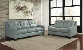 O'Kean 59103SL 2-Piece Living Room Set with Sofa and Loveseat in Sky