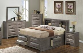 G1505GFSB3DMN 4 Piece Set including  Full Size Bed, Dresser, Mirror and Nightstand  in Gray