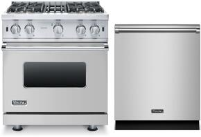 "2-Piece Stainless Steel Kitchen Package with VGCC5304BSS 30"" Natural Gas Range and 2-Piece Stainless Steel Kitchen Package with VGCC5304BSS 30"" Natural Gas Range and VDW302SS 24"" Fully Integrated Dishwasher"