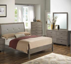 G1205AFBDM 3 Piece Set including Full Bed, Dresser and Mirror  in Grey