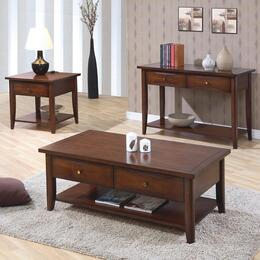 Whitehall Collection 700958SET 3 PC Living Room Table Set with Coffee Table + End Table + Sofa Table in Bourbon Finish