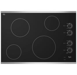 Whirlpool W5CE3024XS 30 4 Element Electric Cooktop (Stainless Steel)