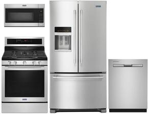 4 Piece Stainless Steel Kitchen Package with MGR8800FZ 30