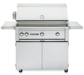 "Sedona 2-Piece Stainless Steel Outdoor Grill Set with L600PSRLP 36"" Liquid Propane Grill with Rotisserie and L600CART 36"" Freestanding Cart"