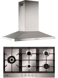 "2 Piece Stainless Steel Kitchen with FA-950STX 34"" Gas Cooktop and 60CFP-36IX 36"" Island Range Hood"