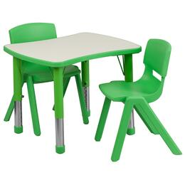 Flash Furniture YUYCY0980032RECTTBLGREENGG