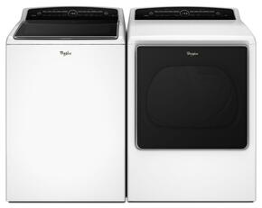 "Cabrio White Top Load Laundry Pair with WTW8500DW 27.5"" Washer and WED8500DW 29"" Electric Dryer"