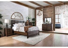 Hankinson Collection CM7576KBDMCN 5-Piece Bedroom Set with King Bed, Dresser, Mirror, Chest and Nightstand in Rustic Natural Tone Finish