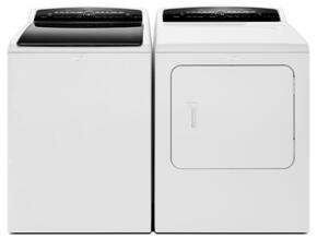 """Cabrio White Top Load Laundry Pair with WTW7300DW 27.5"""" High-Efficiency Washer and WGD7300DW 29"""" High-Efficiency Gas Steam Dryer"""