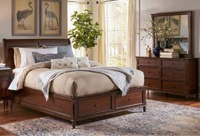 Avignon Youth Collection 1619QPBDM 3-Piece Bedroom Set with Queen Storage Bed, Dresser and Mirror in Birch Cherry
