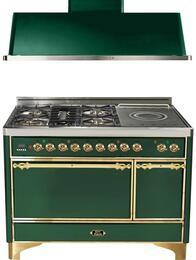 2-Piece Emerald Green Kitchen Package with UMC120SDMPVS 48