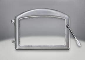 H222-SS Arched Cast Iron Satin Chrome Plated Door