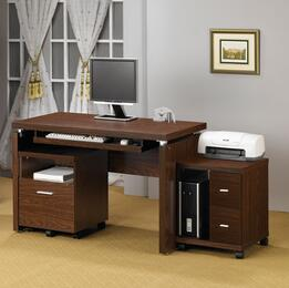 Peel 800831DS 2 PC Office Furniture with Computer Desk + Computer (CPU) Stand in Brown Color