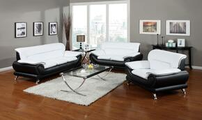 Orel Collection 50455SLCT 5 PC Living Room Set with Sofa + Loveseat + Chair + Coffee Table + End Table in Black and White Color