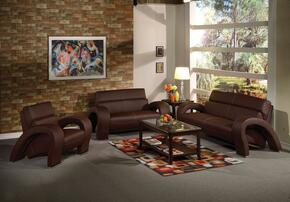 Irisa Collection 51735SLCT 6 PC Living Room Set with Sofa+ Loveseat + Chair + 3 PC Table Set in Chocolate Color